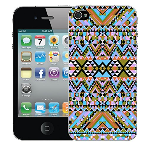 Mobile Case Mate iPhone 4 Silicone Coque couverture case cover Pare-chocs + STYLET - Ethnic pattern (SILICON)