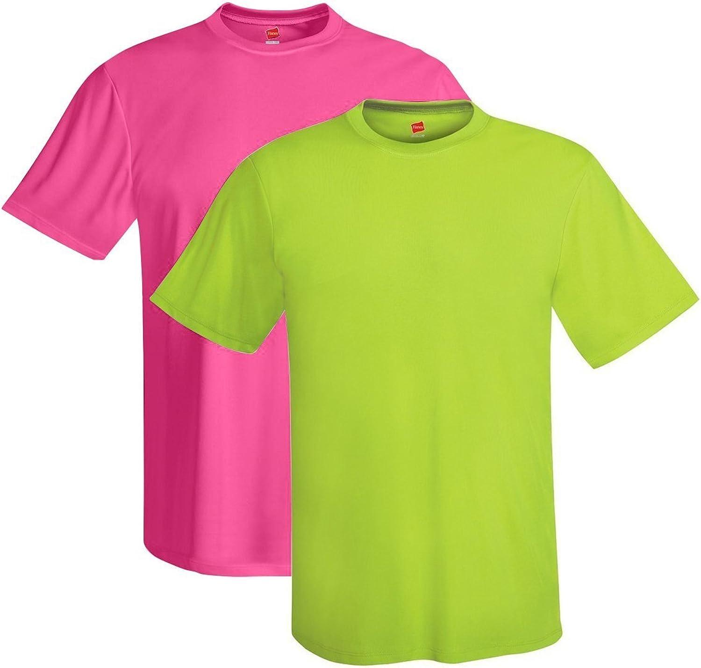 Hanes Men's Short Sleeve Cool Dri T-Shirt UPF 50+ (Pack of 2)