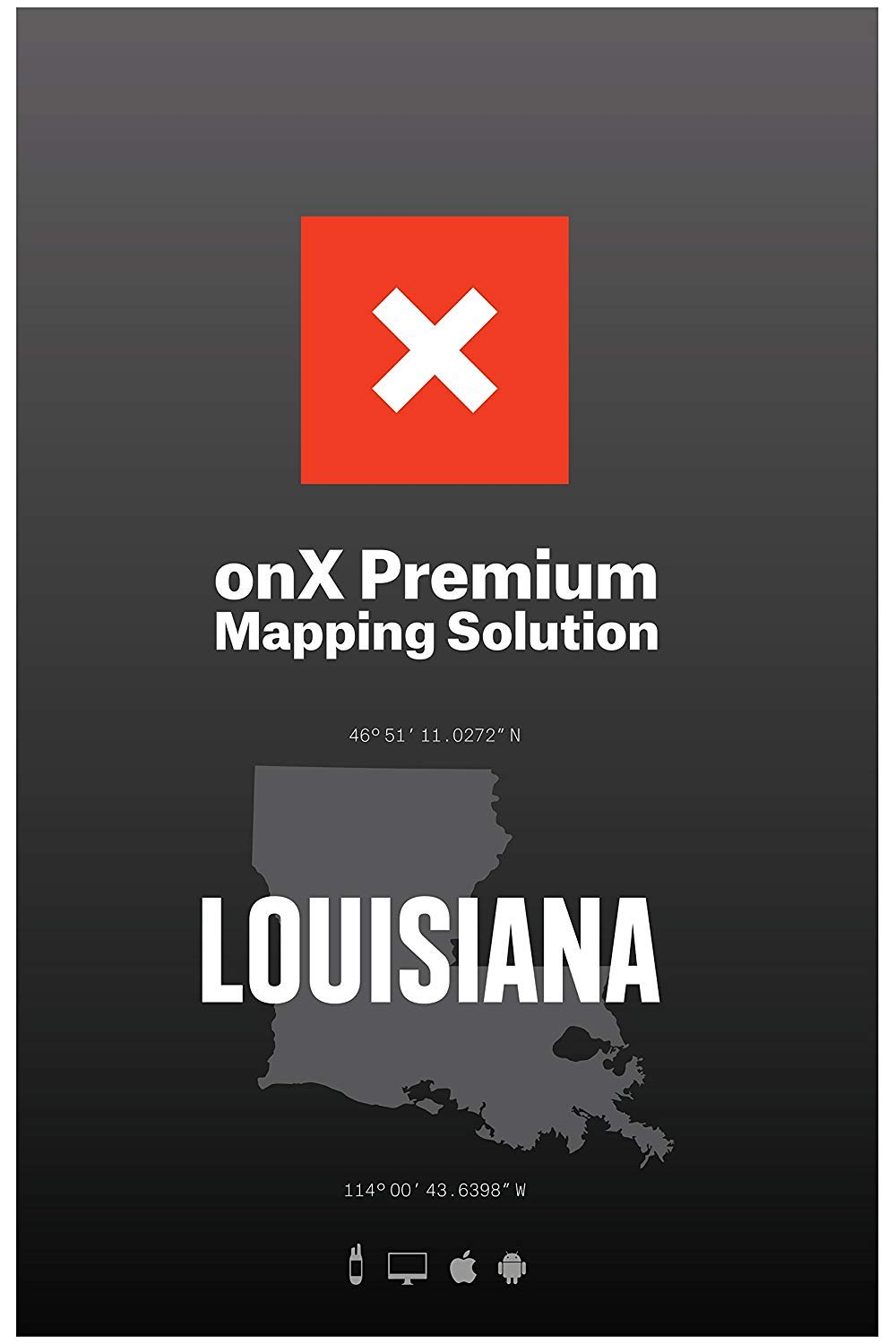 ONX Hunt: Louisiana Hunt Chip for Garmin GPS - Hunting Maps with Public & Private Land Ownership - Hunting Units - Includes Premium Membership Hunting App for iPhone, Android & Web by ONX
