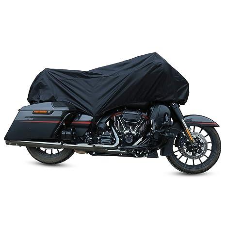 Auto & Motorrad: Teile Motorradzubehör Motorcycle Cover Black XXL Waterproof Bike Outdoor Rain Dust UV Protector DE