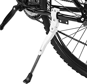 VGEBY1 Bike Kickstand, Aluminium Alloy Cycling Side Support Kick Stand Adjustable Rear Mount Stand Fits for 16