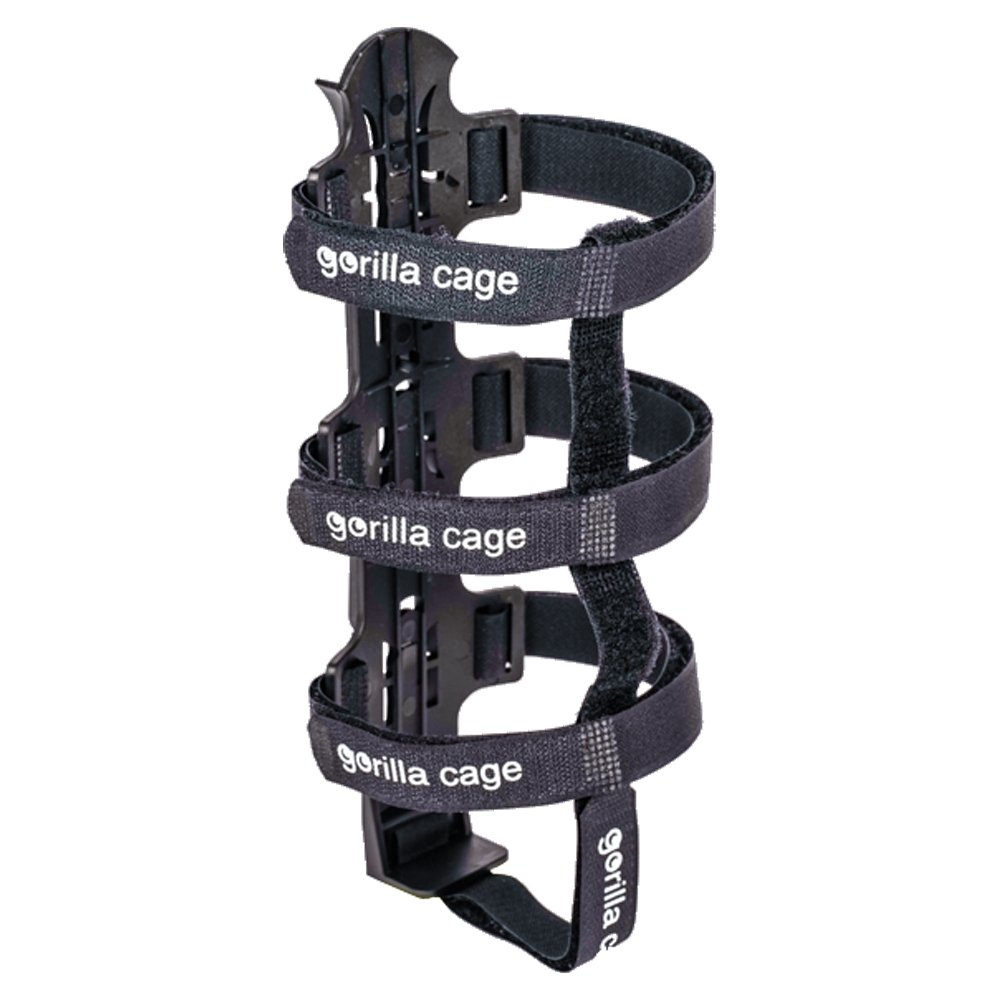 DOM Gorilla Cage - Huge Bike Water Bottle Cage for Bike Packing, Adventure Cycling & Cycle Touring, Black by DOM