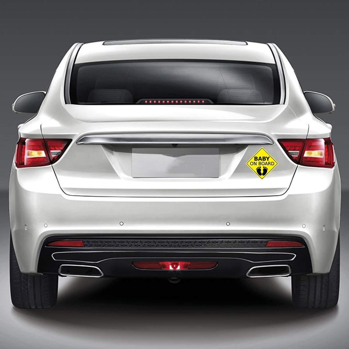 Pattern : Footprints Tianhaik B/ÉB/É /À Bord Voiture Attention Autocollants Stickers Autocollant Imperm/éable Autocollant De S/écurit/é Automobile