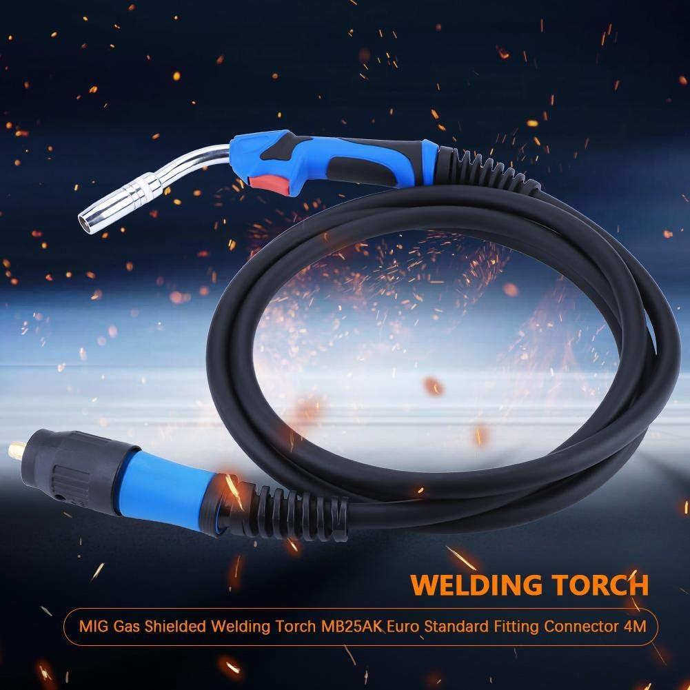 4M MIG Gas geschirmte Schwei/ßbrenner MB25AK Euro Standard Fitting Stecker