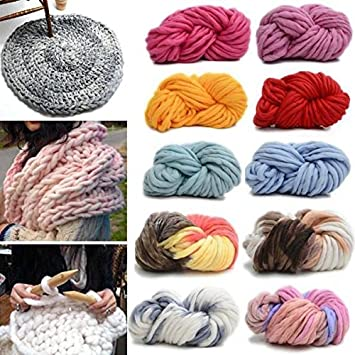 Bargain World 250g 16 Farben Super dick Baumwolle Strickwolle Garn ...