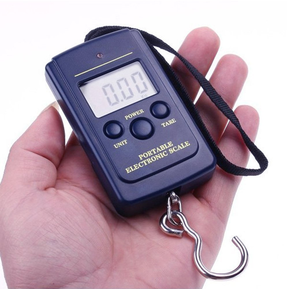 LCD Display Luggage Scale,Electronic Digital Scale,0.01kg-40kg Luggage Scales,Digital Portable and Handheld,Perfect for Travel and Fishing /& Other Outdoor Activities 90g,as the picture