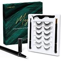 LANCILEY Magic False Eyelashes and Eyeliner Kit - No Glue No Magnetic Eyelashes Set, With Reusable Lashes [6 Pairs 6…