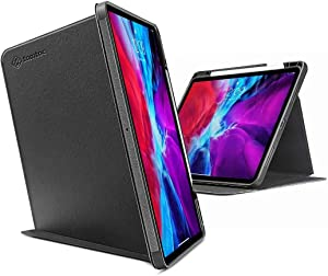 tomtoc Case for iPad Pro 12.9 2018 & 2020, Trifold Vertical Case with Apple Pencil Holder, Protective Cover with Magnetic Kickstand for 3 Use Modes, Support iPad Pencil Wirelessly Charging