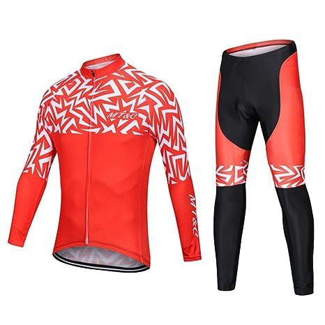 AQWWHY Traje de Ciclismo Mujer Ciclismo Manga Larga Jersey Mujer Ciclismo Conjuntos de Ropa Pantalones Equitación