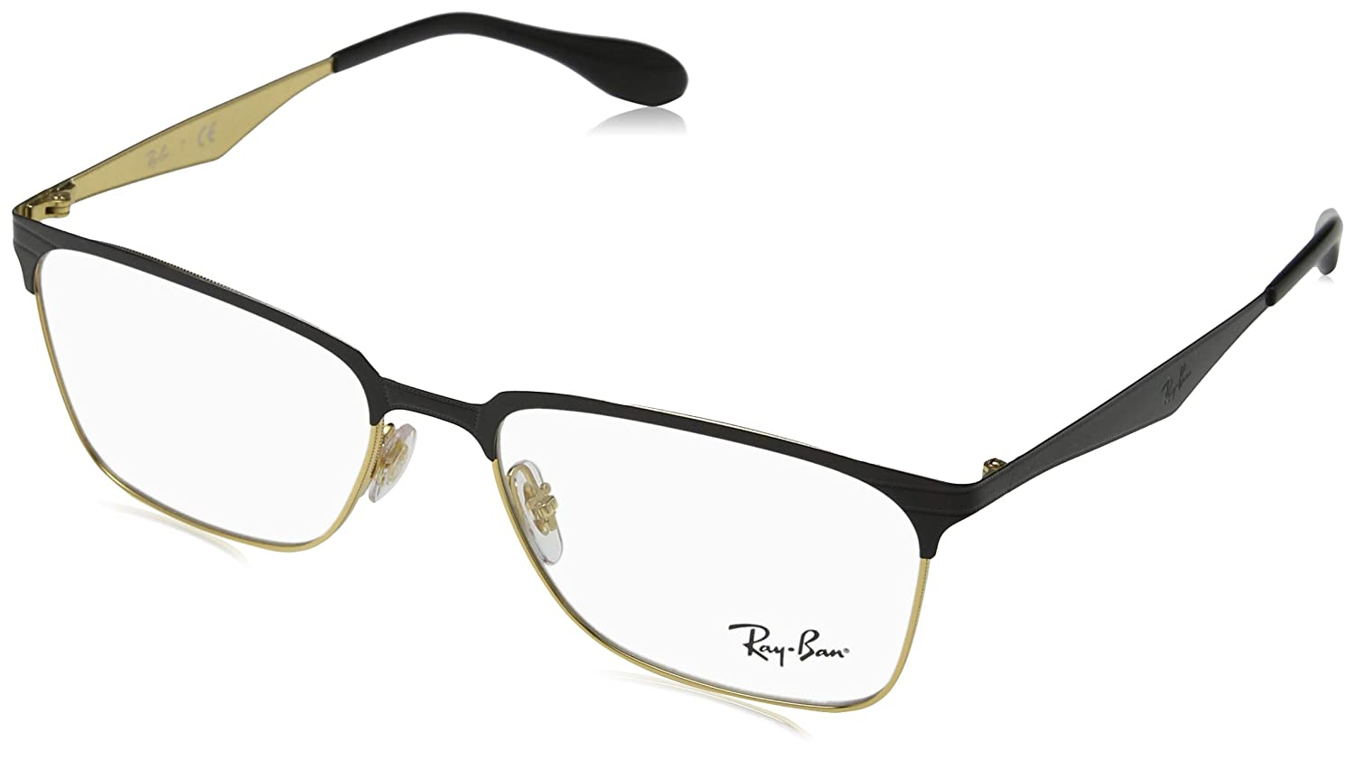 5b43aed3d92 Amazon.com  Ray-Ban Men s RX6344 Eyeglasses Gold Havana 54mm  Clothing