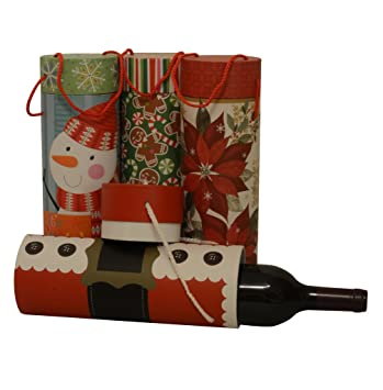 Christmas Wine Gift Box Tubes 1 Of Each Design 4 Boxes