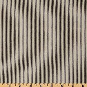 32'' Down-Proof Ticking Stripe Blue/Cream Fabric By The Yard