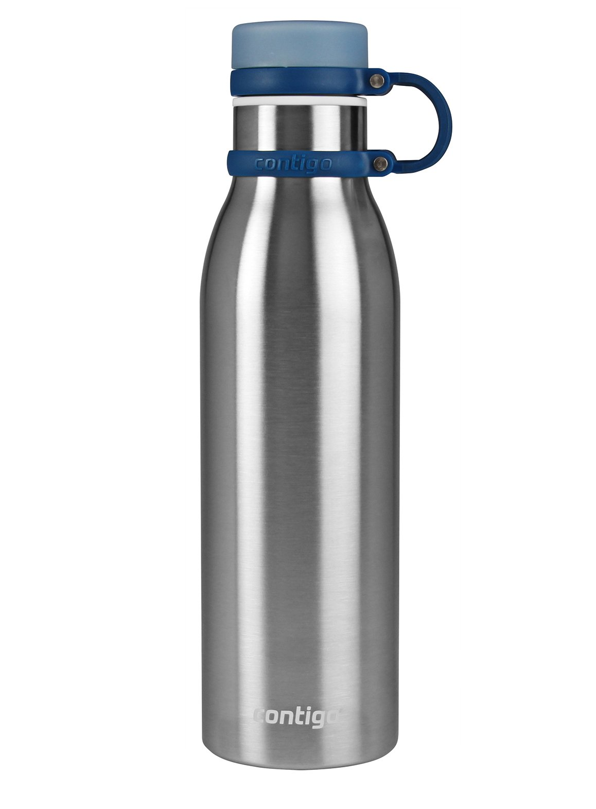 Contigo THERMALOCK Matterhorn Stainless Steel Water Bottle, 20 oz, Stainless Steel with Monaco Accent