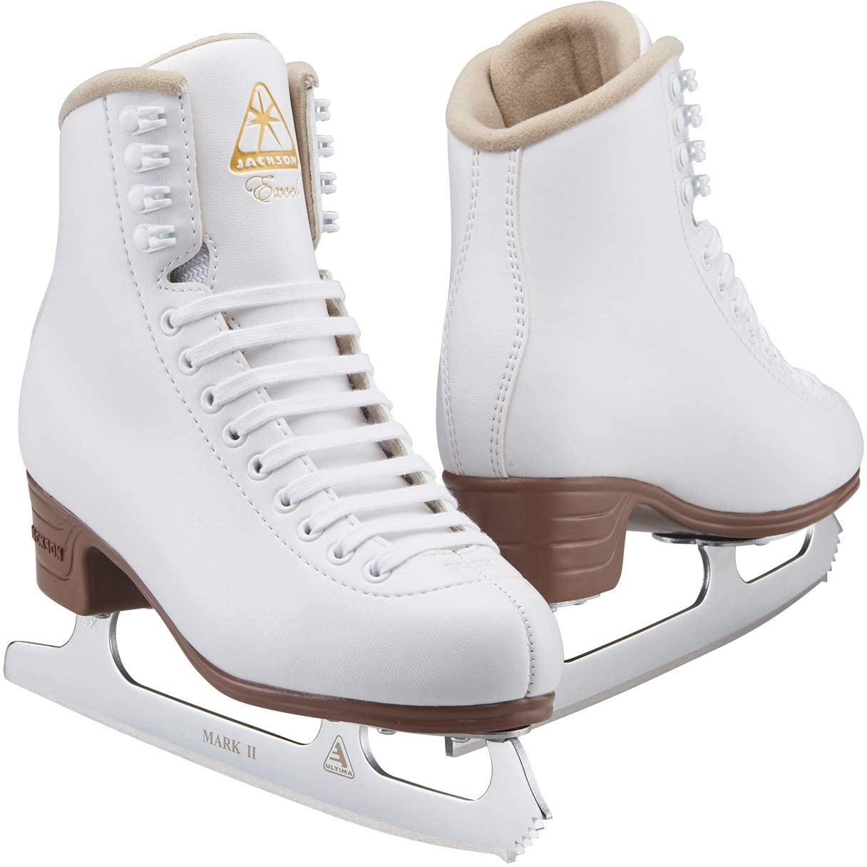 Jackson Ultima Excel White Figure Ice Skates for Women and Girls – Improved, JUST LAUNCHED 2019