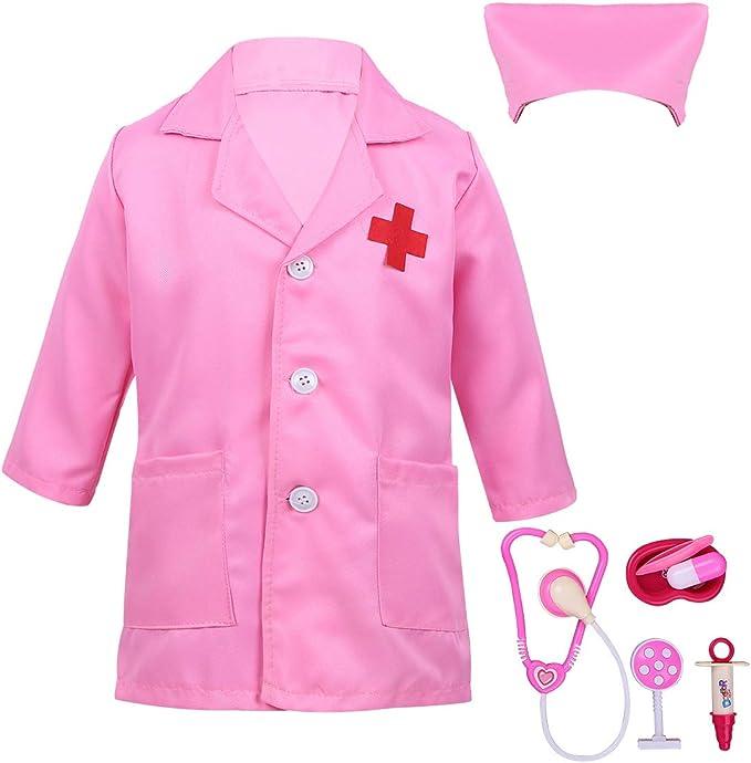 ranrann Disfraz de Enfermera para Niños Niñas Uniforme de Trabajo ...