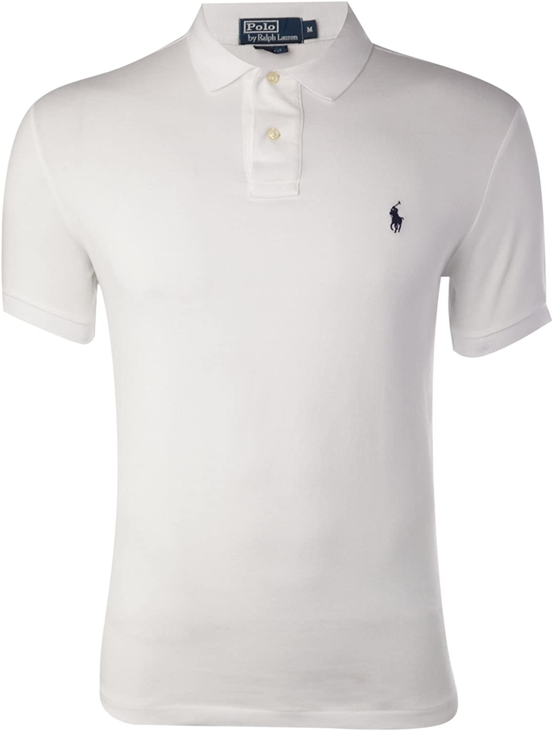 Polo Ralph Lauren, polo slim fit piqué de hombre (X-Large, Blanco ...