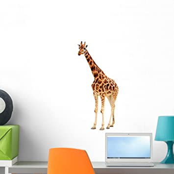 Giraffe Wall Decal By Wallmonkeys Peel And Stick Graphic (24 In H X 11 In