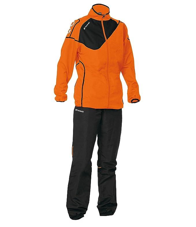 Stanno Montreal Micro Taslan Traje Chándal de color naranja negro ...