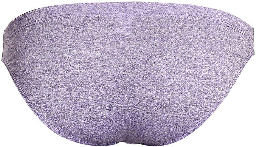 Muyukli Eolgo Fashion Mens Underwear Low Waist Briefs Panties Soft Solid Shorts Underpants