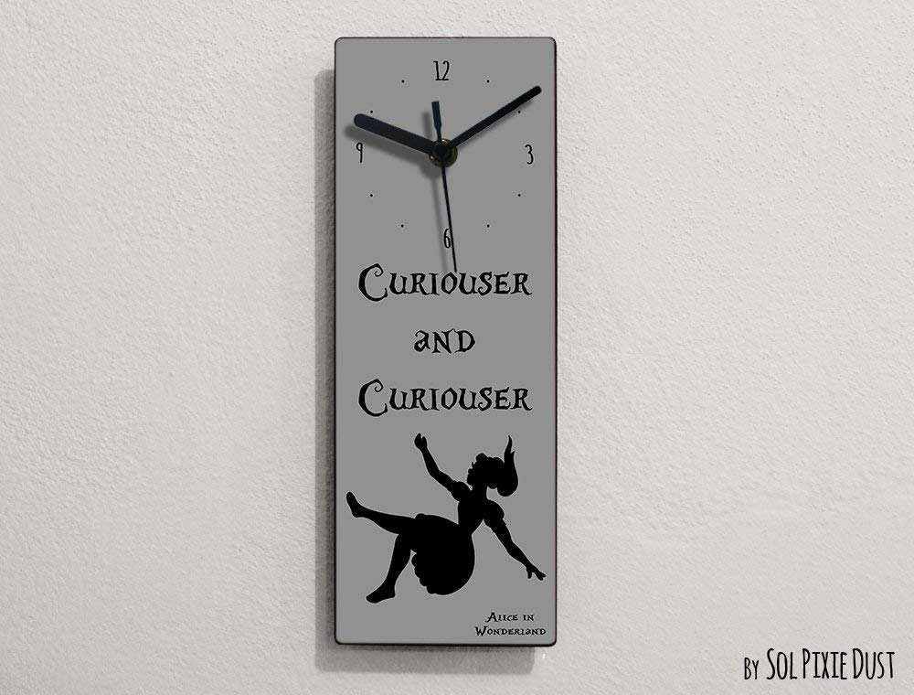 Curiouser and Curiouser Wall Clock Alice in Wonderland