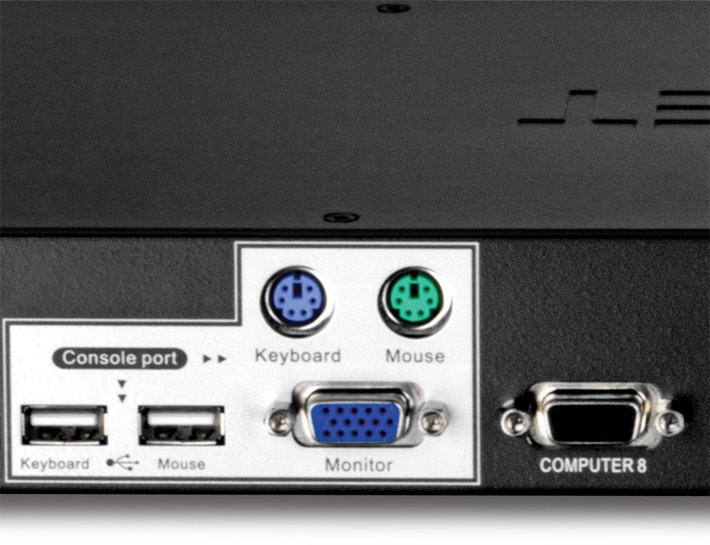 TRENDnet TK-803R - Switch de Montaje en Bastidor de 8 Puertos, KVM: Amazon.es: Informática