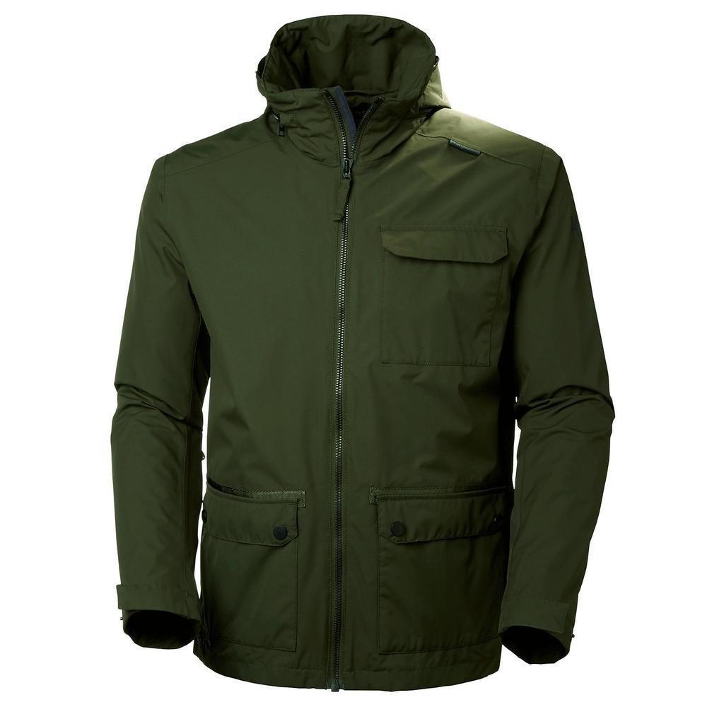 Helly Hansen Men's Highland Waterproof Windproof Breathable Rain Jacket with Stowable Hood 62607