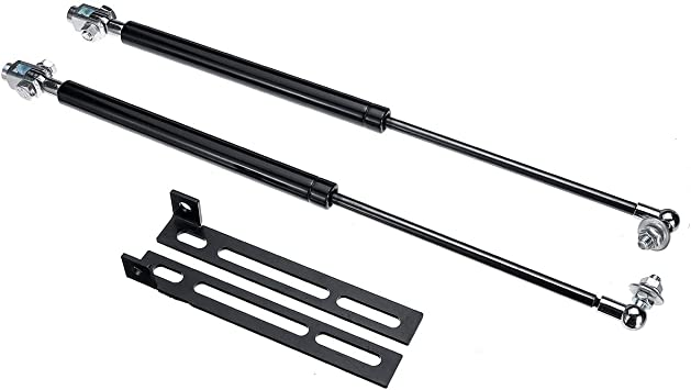 2 REAR ENGINE LID LIFT SUPPORTS SHOCKS STRUTS PROPS ARMS PROPS RODS DAMPER