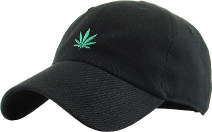 KBSV-064 BLK Marijuana Leaf Dad Hat Baseball Cap Polo Style Adjustable 9976e9f0898