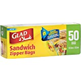 Glad Zipper Sandwich Bags - 50 Count