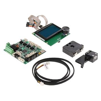 kesoto Cable Motor Pantalla LCD Base Kit de Impresora 3D Suminstro ...