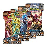 Pokemon Trading Card Game, 4 Packs Steam Siege Booster Pack
