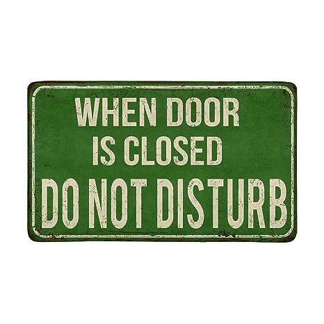 Cuando la puerta está cerrada No molestar Vintage Cartel de ...