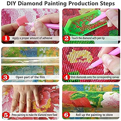 LIK DIY 5D Diamond Painting Kits for Adults Full Drill Embroidery Paintings Rhinestone Pasted Painting Cross Stitch Arts Crafts for Home Wall Decor Letter2-A