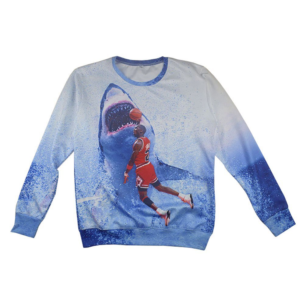 Beckshop Sweatshirts Print 3D Basketball Michael Jordan Hipster Vintage Style (M)