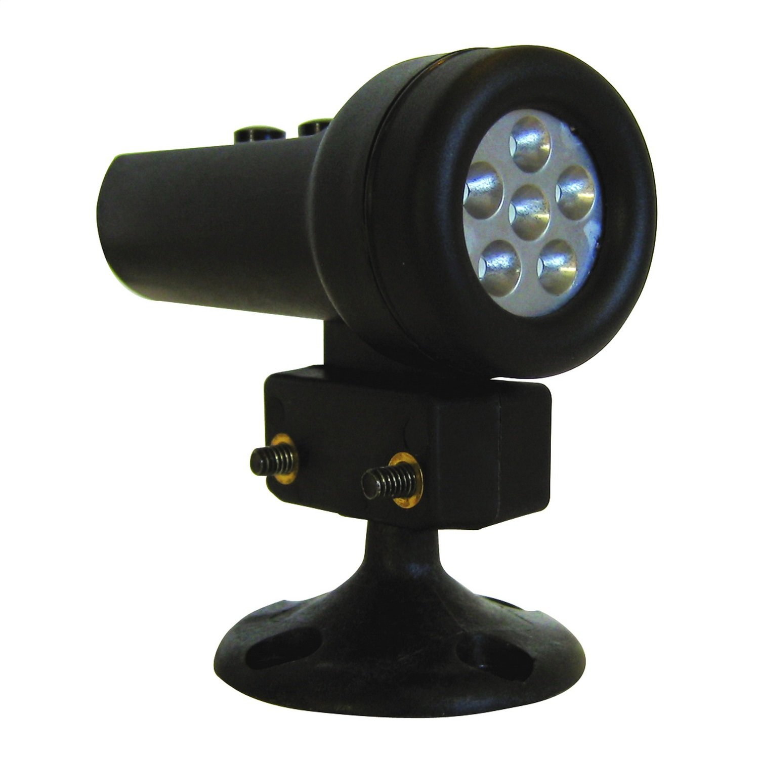 Auto Meter 5321 Black Mini Shift Light with Pedestal Mount and 5 Red LED for Race Use