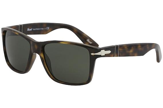 b204cd36264 Persol Mens Sunglasses Tortoise Green - Non-Polarized - 58mm  Amazon ...