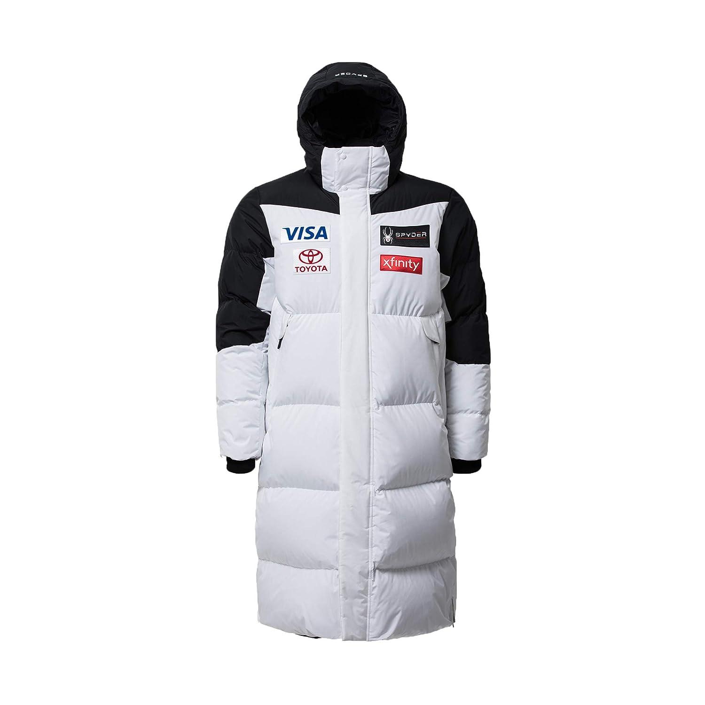(スパイダー) Spyder Men`s Replica long down jacket メンズダウンジャケット (並行輸入品) B07KTRJBGN M|ホワイト/ブラック ホワイト/ブラック M