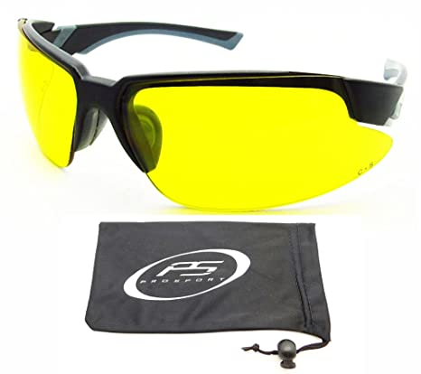 15f8cb530c Image Unavailable. Image not available for. Color  Yellow sunglasses with  Safety rated Z87.1 Polycarbonate lenses