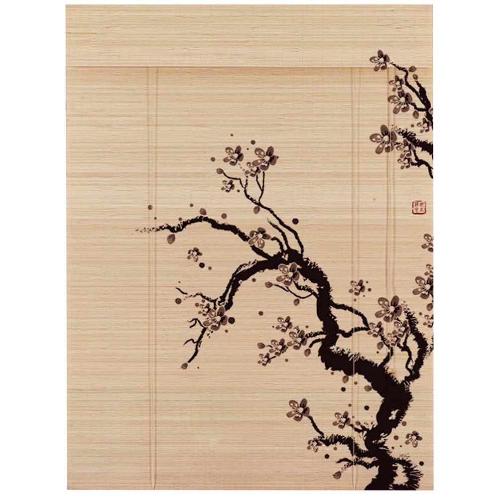 すだれ 竹カーテン 竹製カーテン レトロ 印刷 画面 ホーム オフィス シェーディング 持ち上げる、 8つのスタイル、 カスタマイズ可能なサイズ,1#,W100*H200cm W100*H200cm 1# B07QS9V4XC