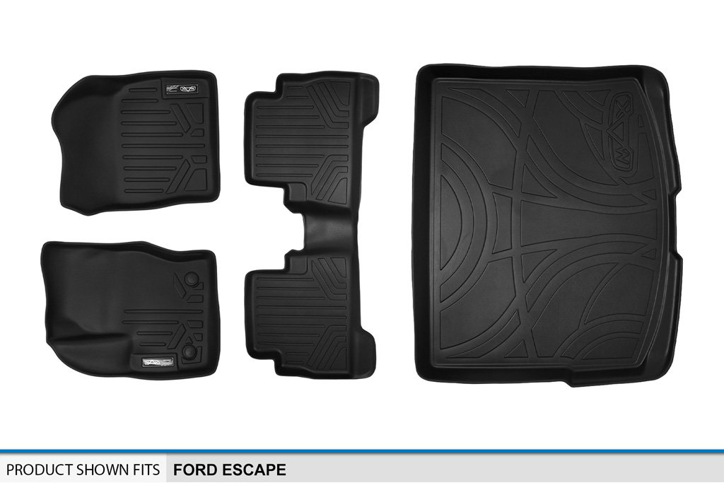 MAX LINER A0115//B0115//D0115 Custom Fit Floor Mats 2 Rows and Cargo Liner Set Black for 2013-2019 Ford Escape