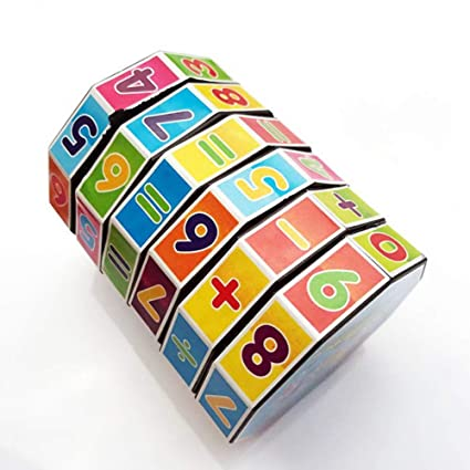 Alician Cylindrical Plastic Magic Cube Children Puzzle Toy Educational Toy for Kids