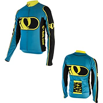 cc0dd1b81 PEARL IZUMI Men s Elite Thermal Limited Jersey Mercury Electric  Blue Screaming Yellow Size Small