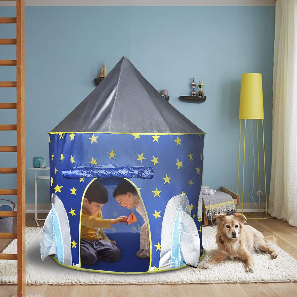 Pop Up Rocket Tent and Castle Tent for Kids Boys Girls