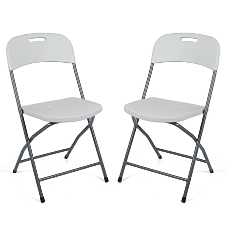 Trail 2 X Blow Moulded Folding Camping Garden Chairs Heavy Duty
