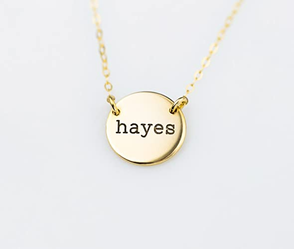 Amazon double sided names or initial engraved disc pendant double sided names or initial engraved disc pendant necklace delicate personalized best friend or couples aloadofball Gallery