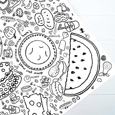 Eggnogg, Tovaglia di carta da colorare, per bambini: Amazon.it: Casa ...
