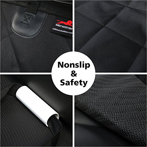 HONEST OUTFITTERS Honest Luxury Quilted Dog Car Seat Cover With Side Flap Pet Backseat cover for Cars, Trucks, and Suv's - WaterProof & NonSlip Diamond Pattern Dog Seat Cover by HONEST OUTFITTERS (Image #6)