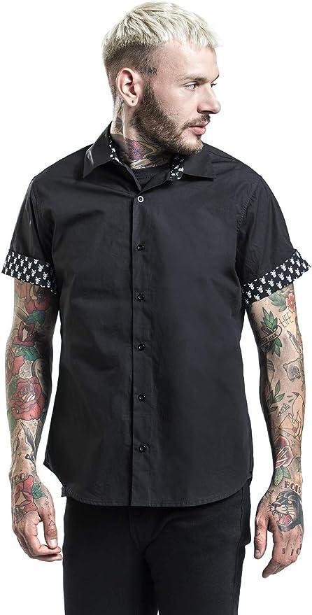 Doomsday Skull Arms Hombre Camisa Manga Corta Negro, Regular: Amazon.es: Ropa y accesorios