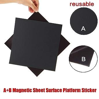 Mendel Wisamic 220/mm x 220/mm magnetico superficie di stampa 3D calore letto con adesivo 3/m per stampanti 3D MK2//MK2/A RepRap