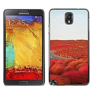Be Good Phone Accessory // Dura Cáscara cubierta Protectora Caso Carcasa Funda de Protección para Samsung Note 3 N9000 N9002 N9005 // Road Freedom Iceland Purple